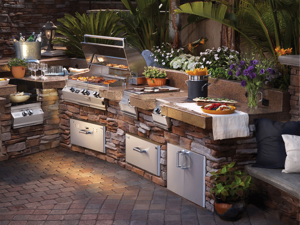 out door kitchen home depot tile creating an outdoor space trends magazine