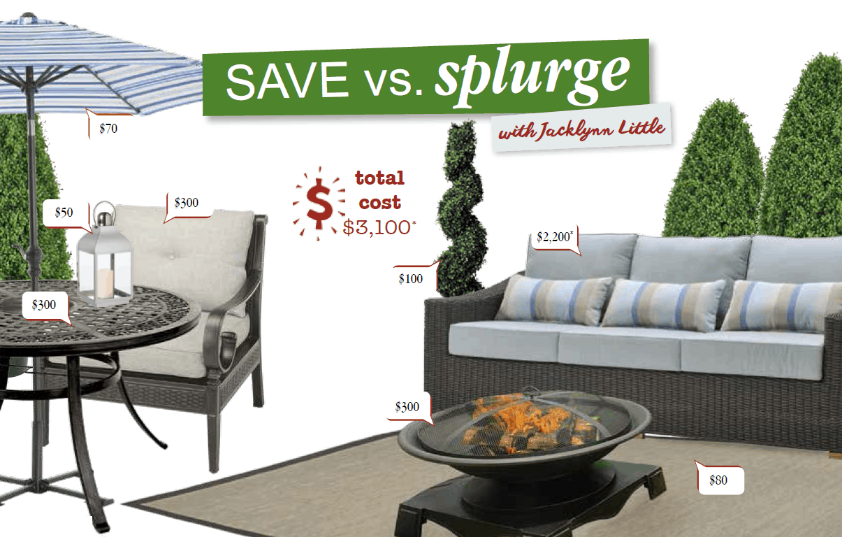 kitchen chair cushions canadian tire matching bar stools and dining chairs save vs splurge with jacklynn little home trends magazine