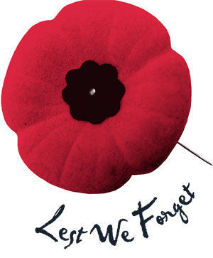 The remembrance poppy.