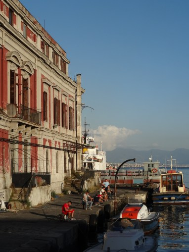 Fisherman at the Naples docks. Photo: CanadianKate