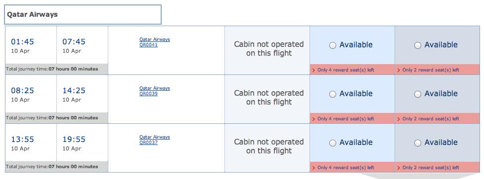 Qatar Airways space to Paris