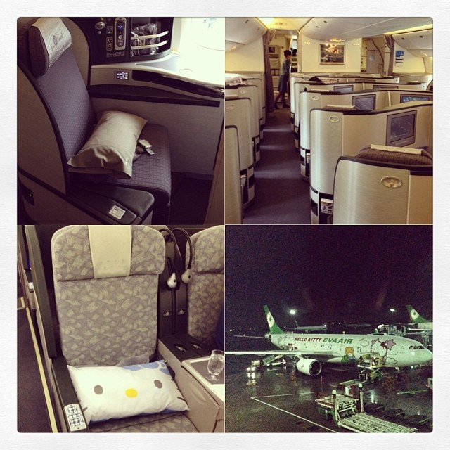Instagrammed EVA Hello Kitty + Royal Laurel Business Class