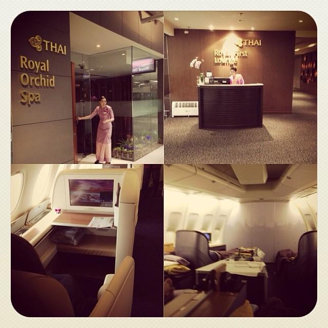 Thai First Class Lounge/Spa/Seat