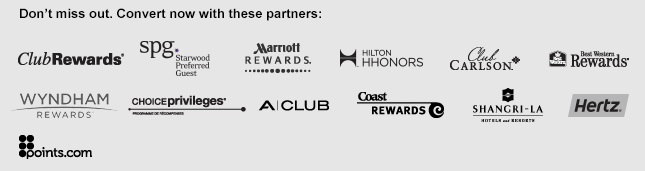 Aeroplan Transfer Promotion Partner Chart