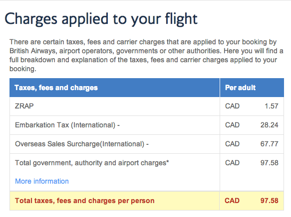 SriLankan Airlines Avios Redemption Taxes and Fees