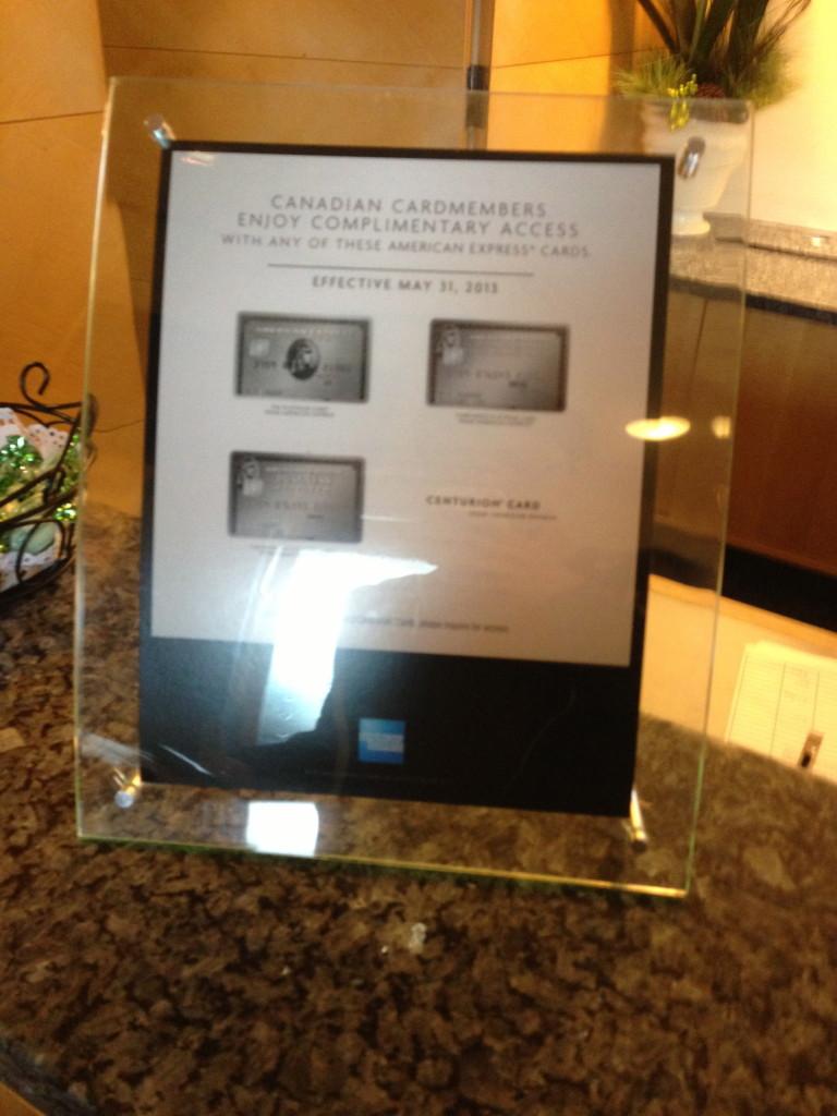 Amex Platinum Vancouver Plaza Premium Lounge Transborder