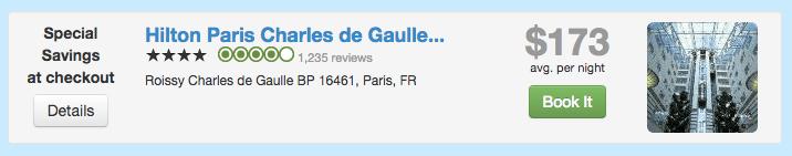 Travelpony Discount on Hilton Paris Charles de Gaulle