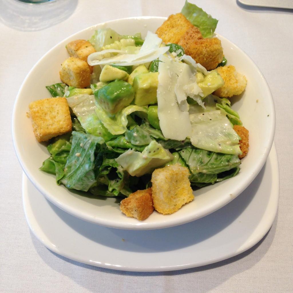 LAX Star Alliance Lounge First Class Salad