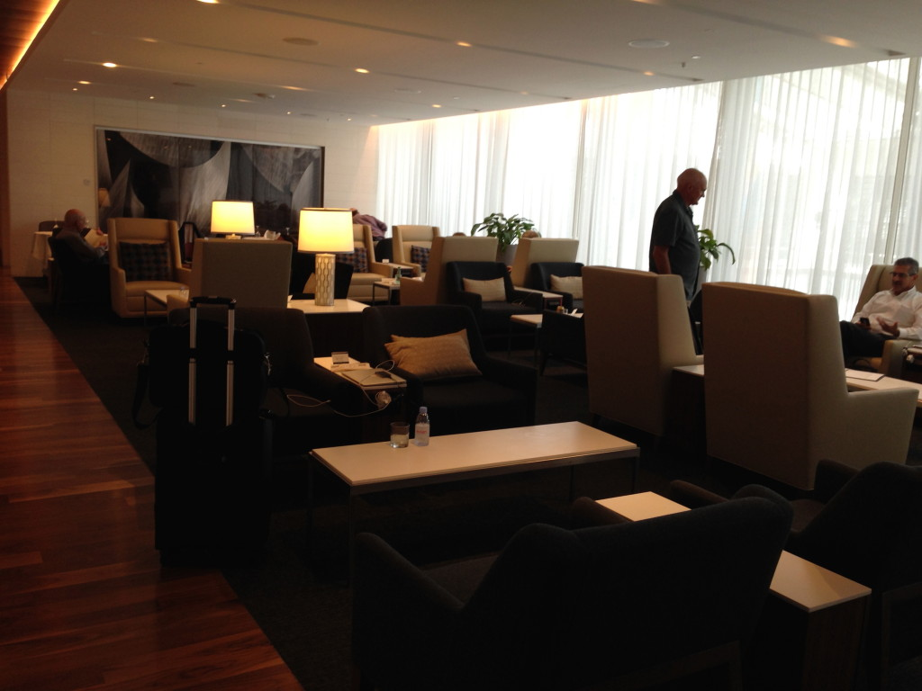 LAX Star Alliance Lounge First Class Seating