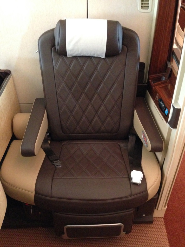 Singapore Airlines A380 Suites Seat 3A