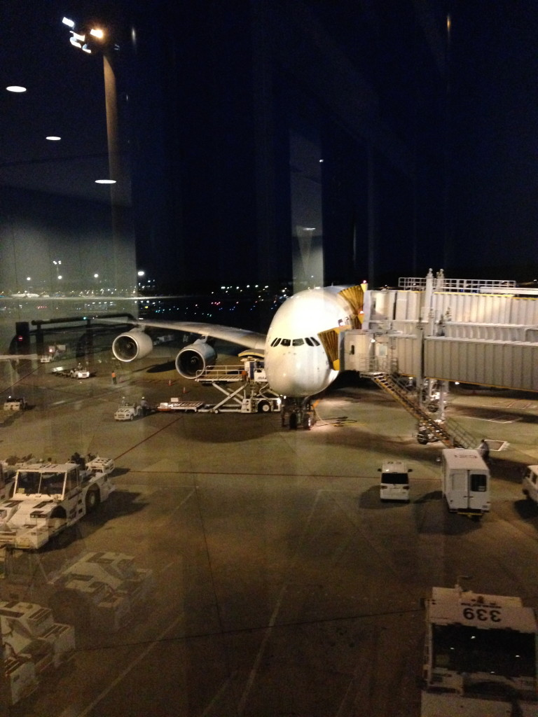View of the A380 from Tokyo Narita