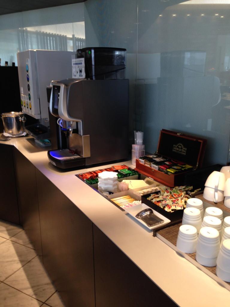 ANA Suites Lounge Tokyo Narita Coffee Machine