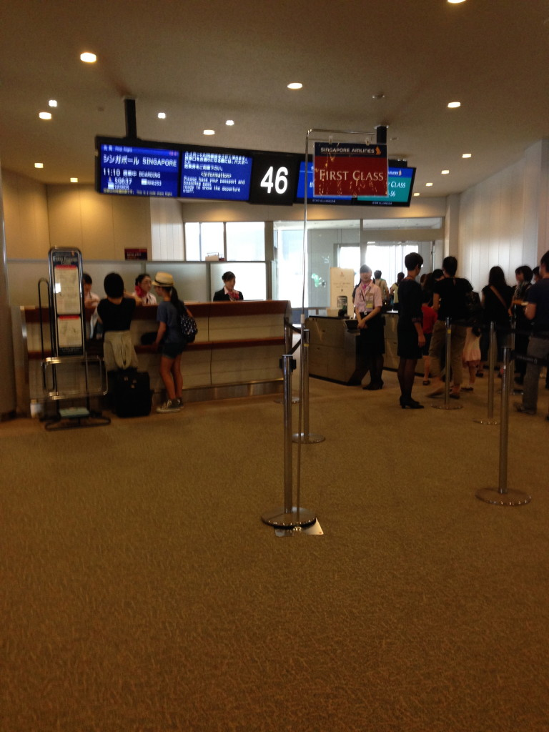 Boarding Gate for Singapore Airlines Flight