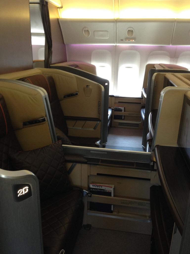 Sinagpore Airlines First Class Cabin