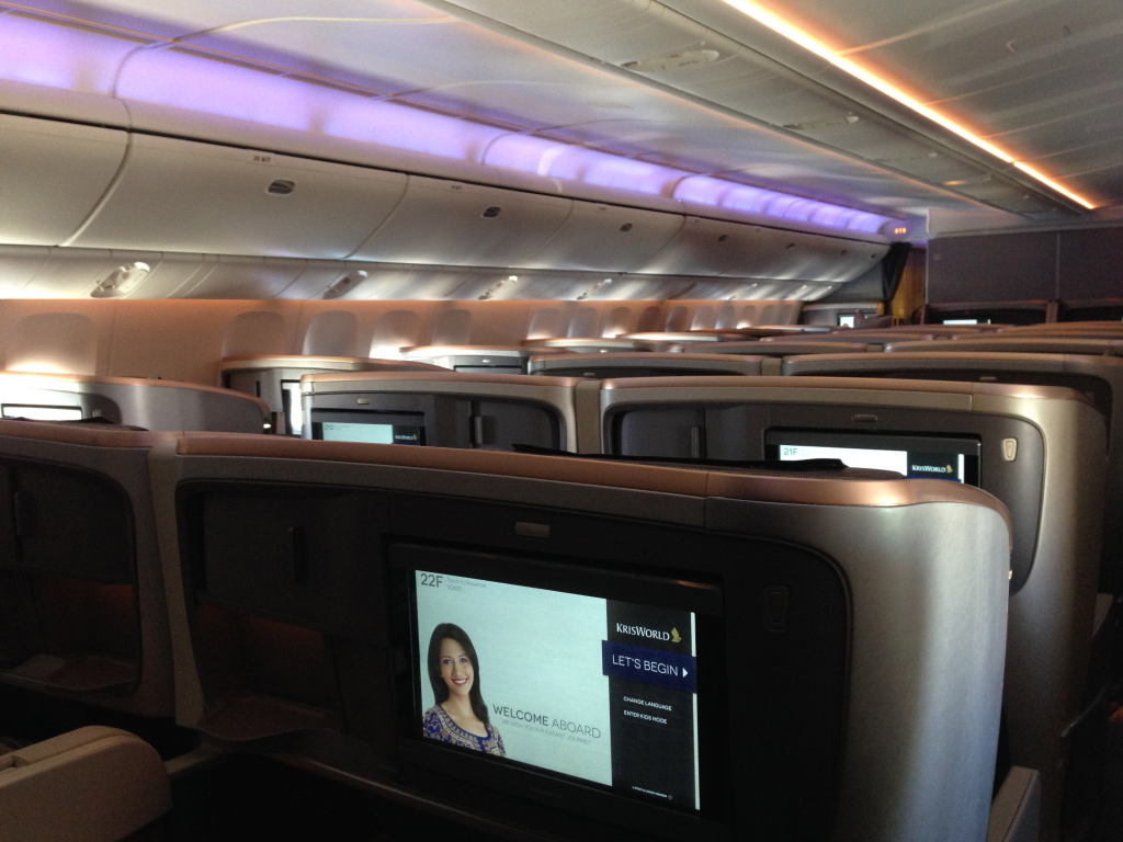 Singapore Airlines New 77W Business Class Cabin