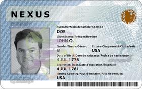 Sample Nexus Card