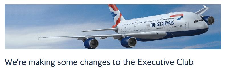 Avios Award Chart Changes 2015