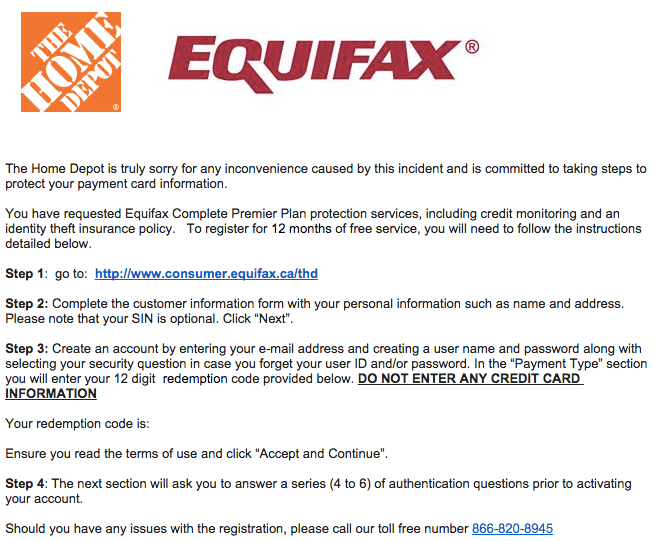 Free Credit Score Canada Home Depot Email