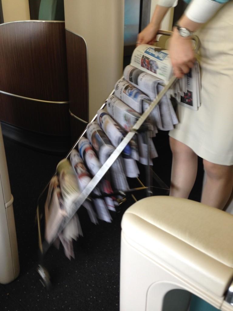 Korean Air First Class Review Newspapers