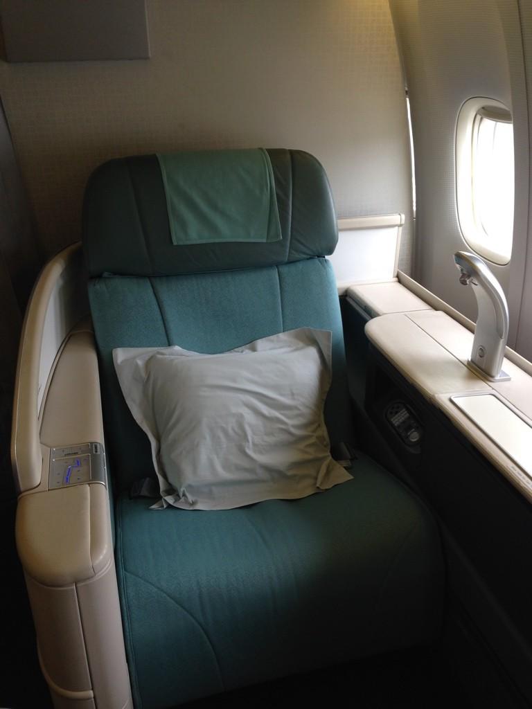 Korean Air First Class Review Seat 2A