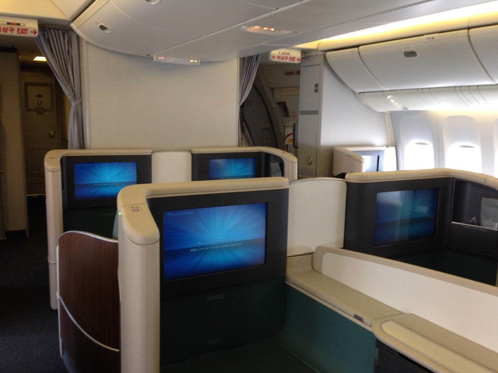 Korean Air First Class Cabin
