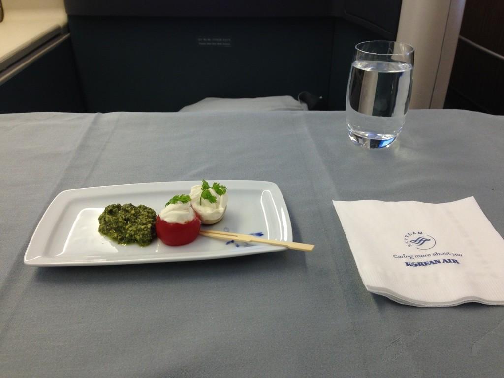 Korean Air First Class Review Amuse Bouche