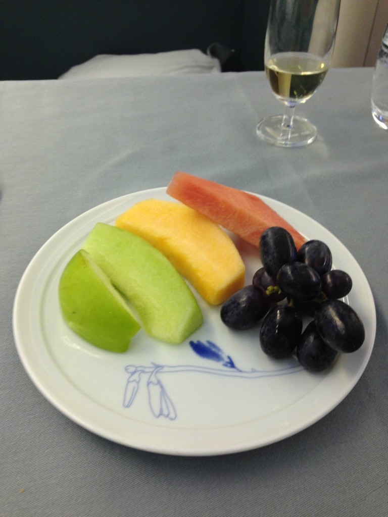 Korean Air First Class Review Fruit