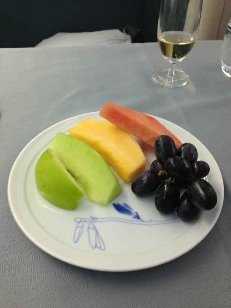 Korean Air First Class Review Fruit