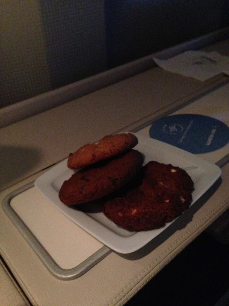 Korean Air First Class Light Meal
