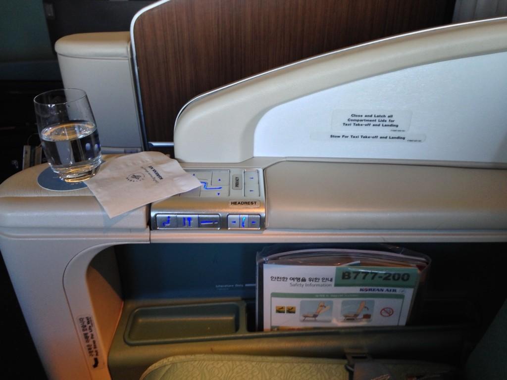 Korean Air First Class Review Raised Divider