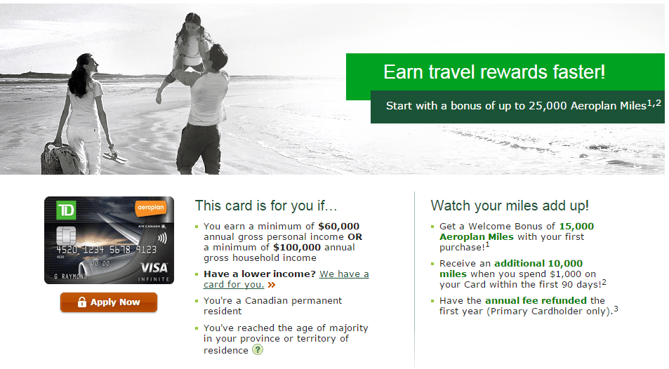 TD Aeroplan Visa Infinite Review - Questions
