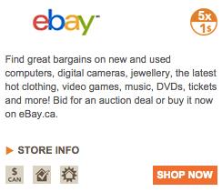 Aeroplan eStore Ebay