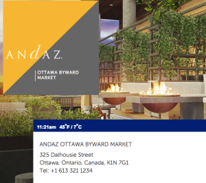 Andaz Ottawa Review