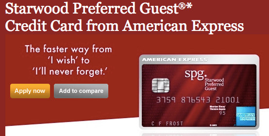 Starwood American Express - 20,000 Points