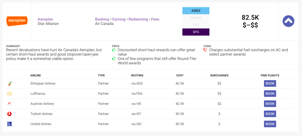 AwardAce - Taxes and Fees Display