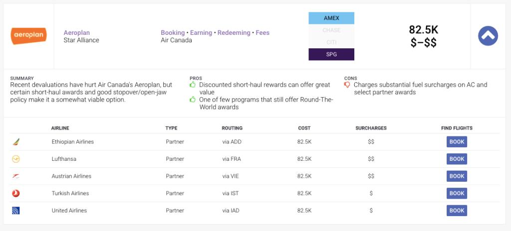 AwardAce - Taxes and Fees Display