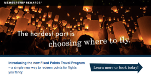 American Express Fixed Points Travel Rewards