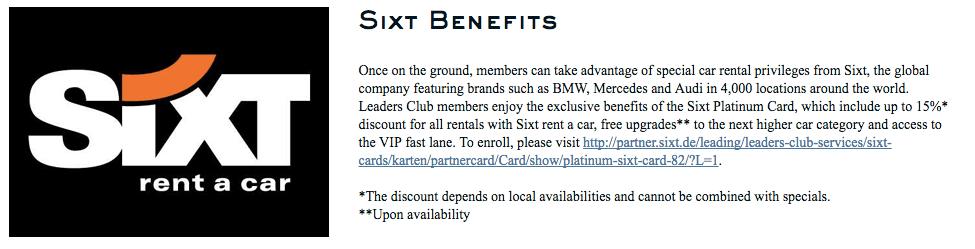 Free Sixt Platinum Status