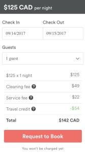 Airbnb Referral Credit Applied