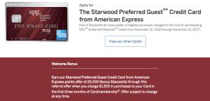 Starwood American Express