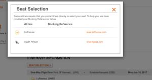 Aeroplan Partner Record Locator