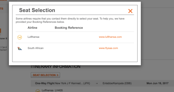 Aeroplan Partner Record Locator