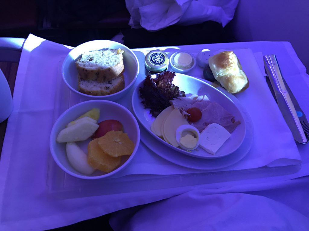 LAN Business Class Breakfast