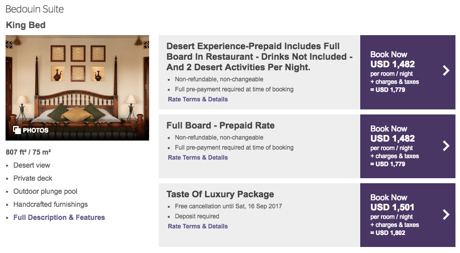 SPG Hotels Resort Redemption - Al Maha