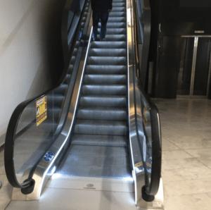 Brisbane Qantas Lounge - Escalator