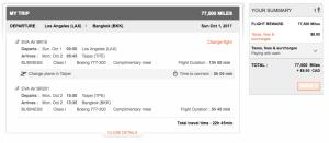 Aeroplan Business Class Redemption