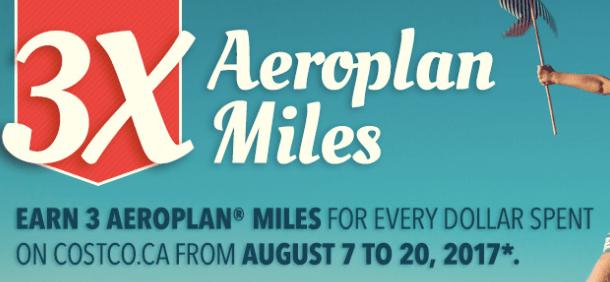 Aeroplan Costco - Earn 3x the Miles
