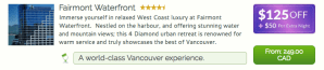 beVancouver Promotion - Fairmont Waterfront