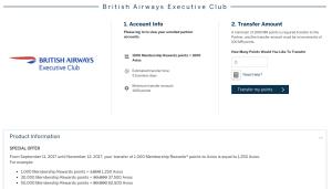 25% Avios Transfer Bonus
