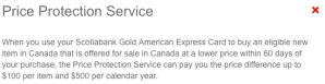 Scotiabank Price Protection